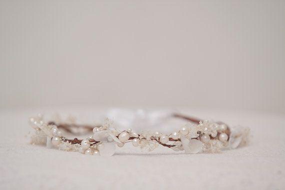 Perle Blume Krone Bridal Blume Krone von MaijasWeddingBliss auf Etsy