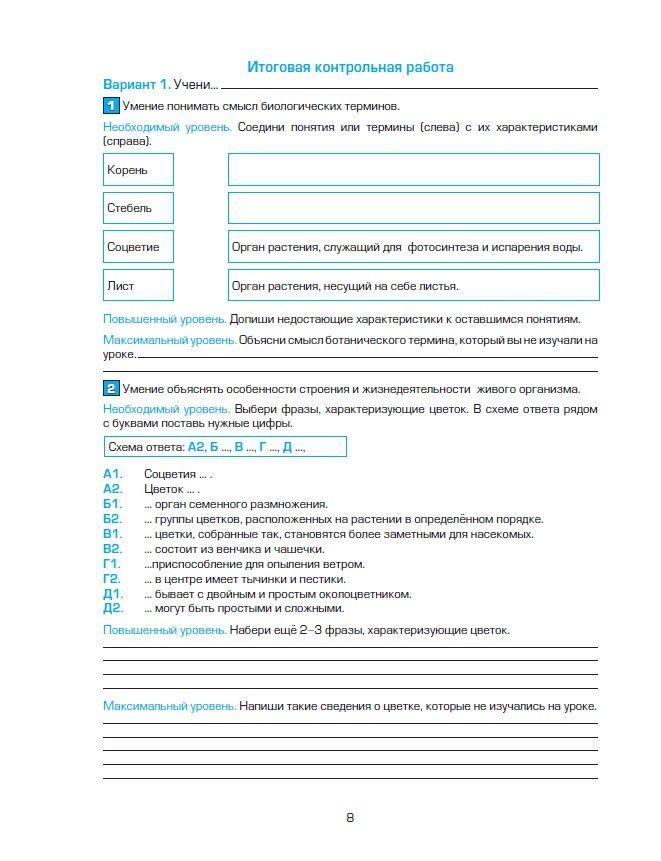 Русский язык 4 класс бунеев контрольная работа за 1 полугодие