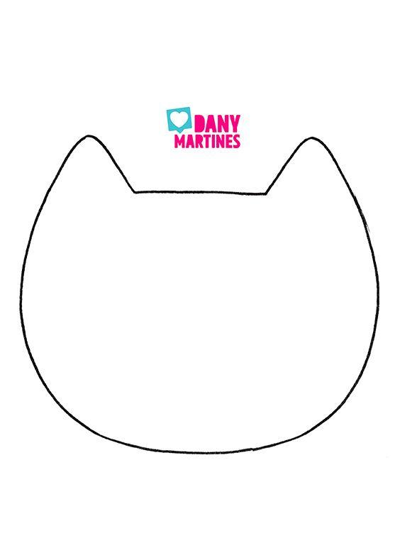Molde de gatinho para fazer bolsa fofinha | Posters para imprimir ...