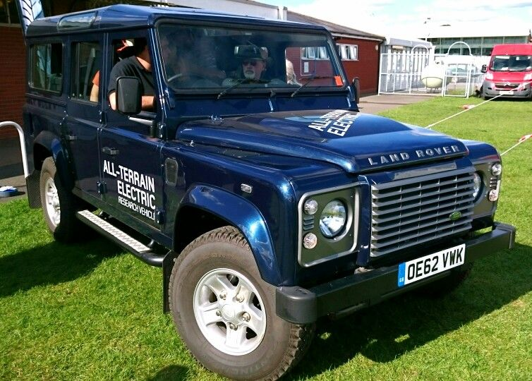 Land Rover Defender Electric powered research vehicle