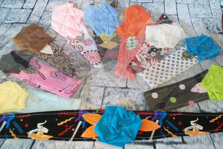 Vintage look fabric flower headbands Wholesale lot no. 3