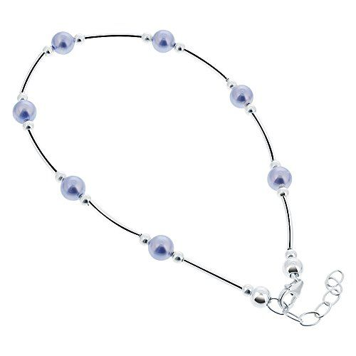 inch to silver chain fit bracelets product sterling amberta flexible classic adjustable ankle anklet