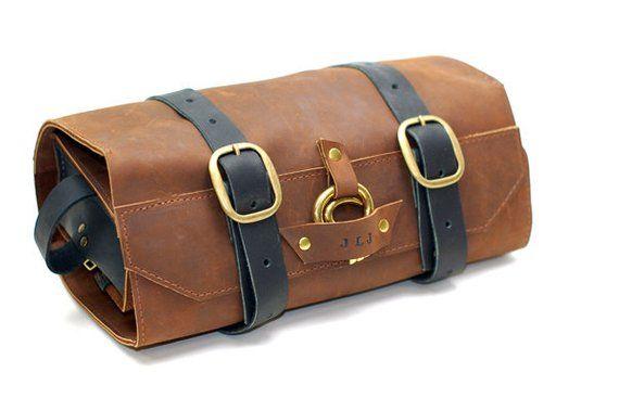 Leather Toiletry Roll Men S Shaving Kit Wet Case Toiletries Bag Shave Sh