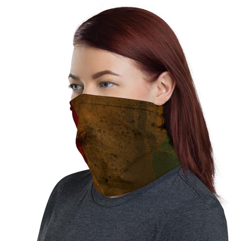 Neck Gaiter Geometric Design | Etsy | Fashion face mask, Neck gaiter, Women's  neck gaiters