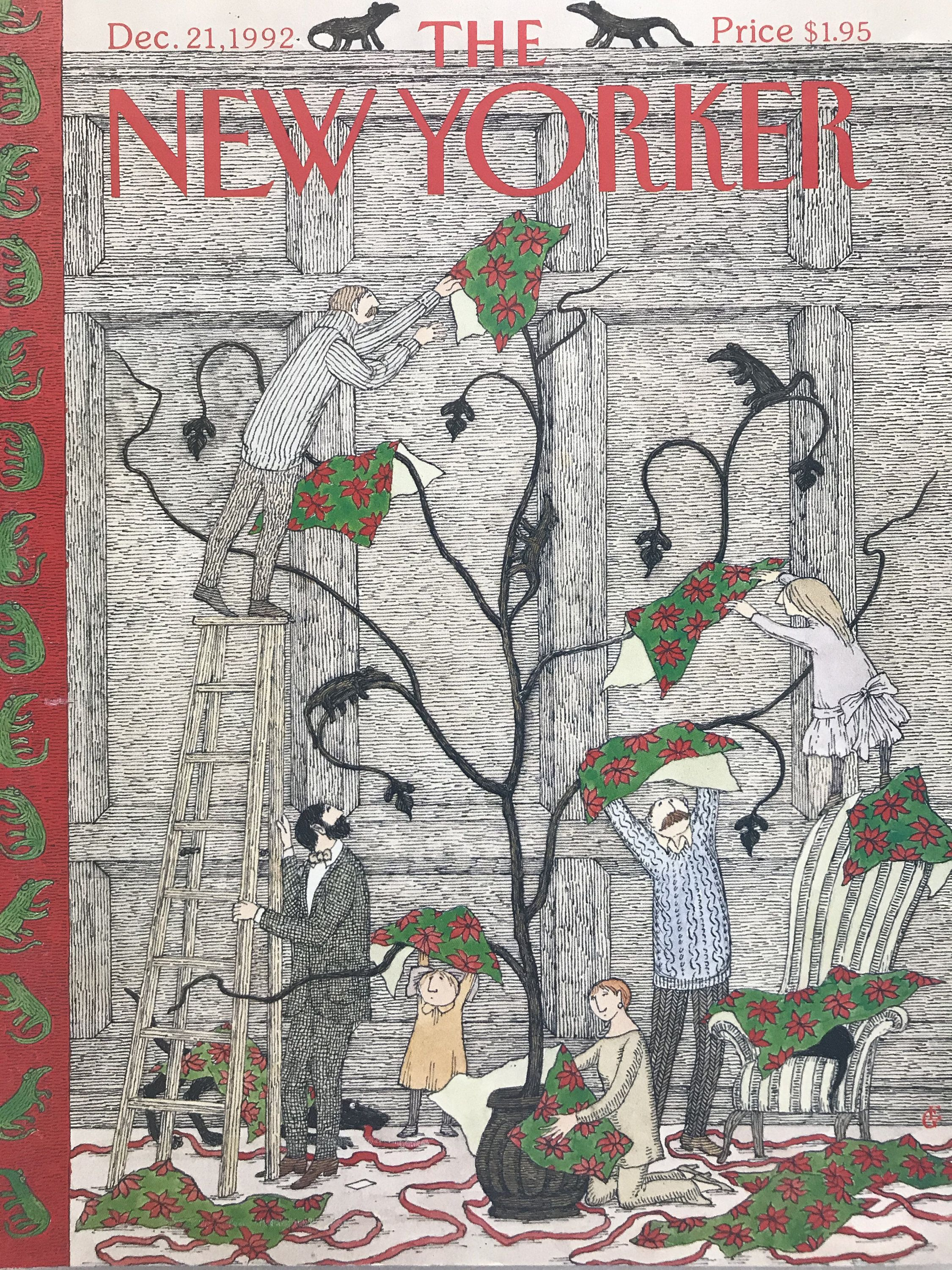 The New Yorker Christmas Cover 2020 RARE December 21 1992 The NEW YORKER cover only | Etsy in 2020
