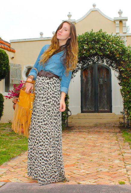 Chambray and Leopard. Too many trends. Doesn't work.