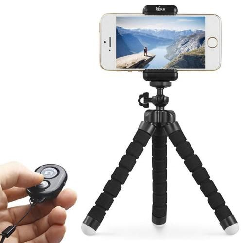 e0fbd52a9 Phone-Tripod-Portable-and-Adjustable-Tripod-Stand-Holder -with-Bluetooth-Remote