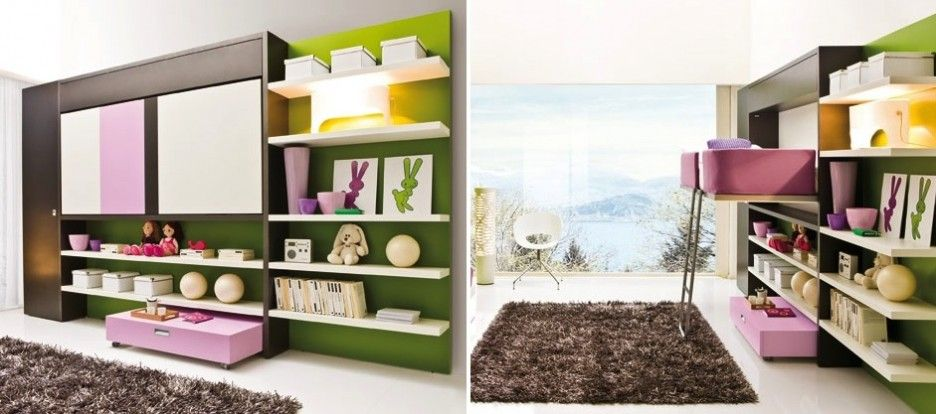 Practice Multipurpose Furniture for Any Kinds of Room: Combination Of PUrple And Green Color In Striking Multipurpose Furniture