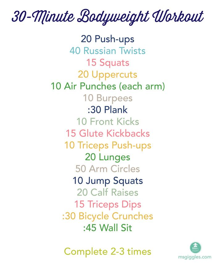 4 Fit Mommies: 30 Minute Bodyweight Workout