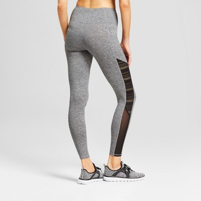 246664c0cad80b Women's Freedom High-Waisted Mesh Insert Leggings - C9 Champion Dark  Heather Gray L