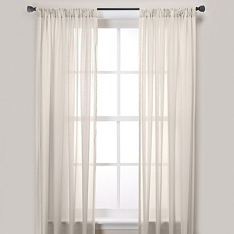 Newbury Pole Top 108 Inch Window Curtain Panel In Ivory With