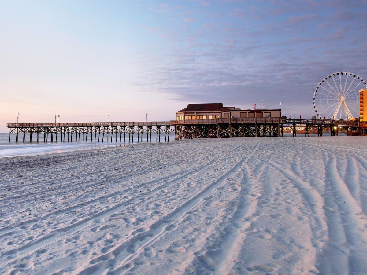 Myrtle Beach South Carolina News Trip Ideas Sky Pier Ground Scene Snow Winter Weather Horizon Season Ocean Morning Sea Evening Wave Sand