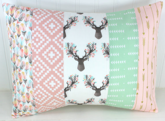 7 Inspiring Kid Room Color Options For Your Little Ones: Woodland Pillow Cover Cushion Cover 12 X 16 Baby Girl
