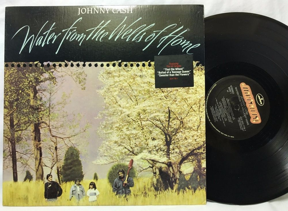Johnny Cash Water From The Wells Of Home Promo Hype Sticker Lp Vinyl Record Vinylrecords Vinyl Records Lp Vinyl Johnny Cash