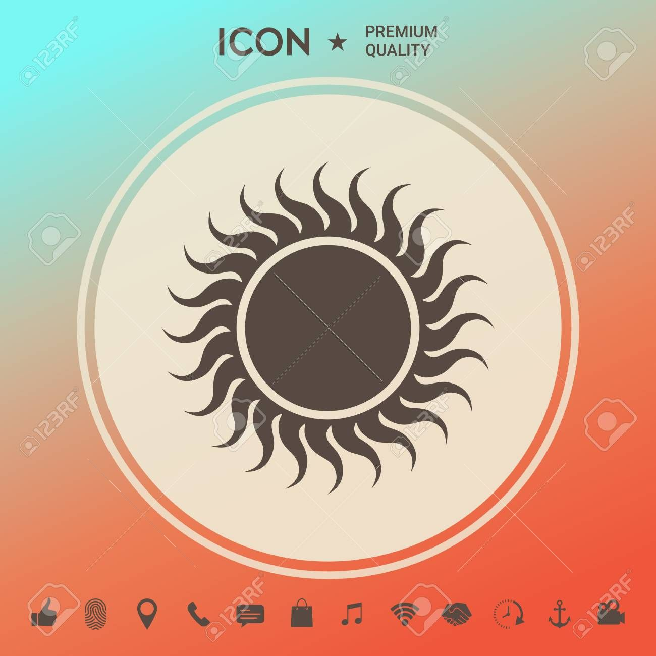Sun icon  Signs and symbols  graphic elements for your design