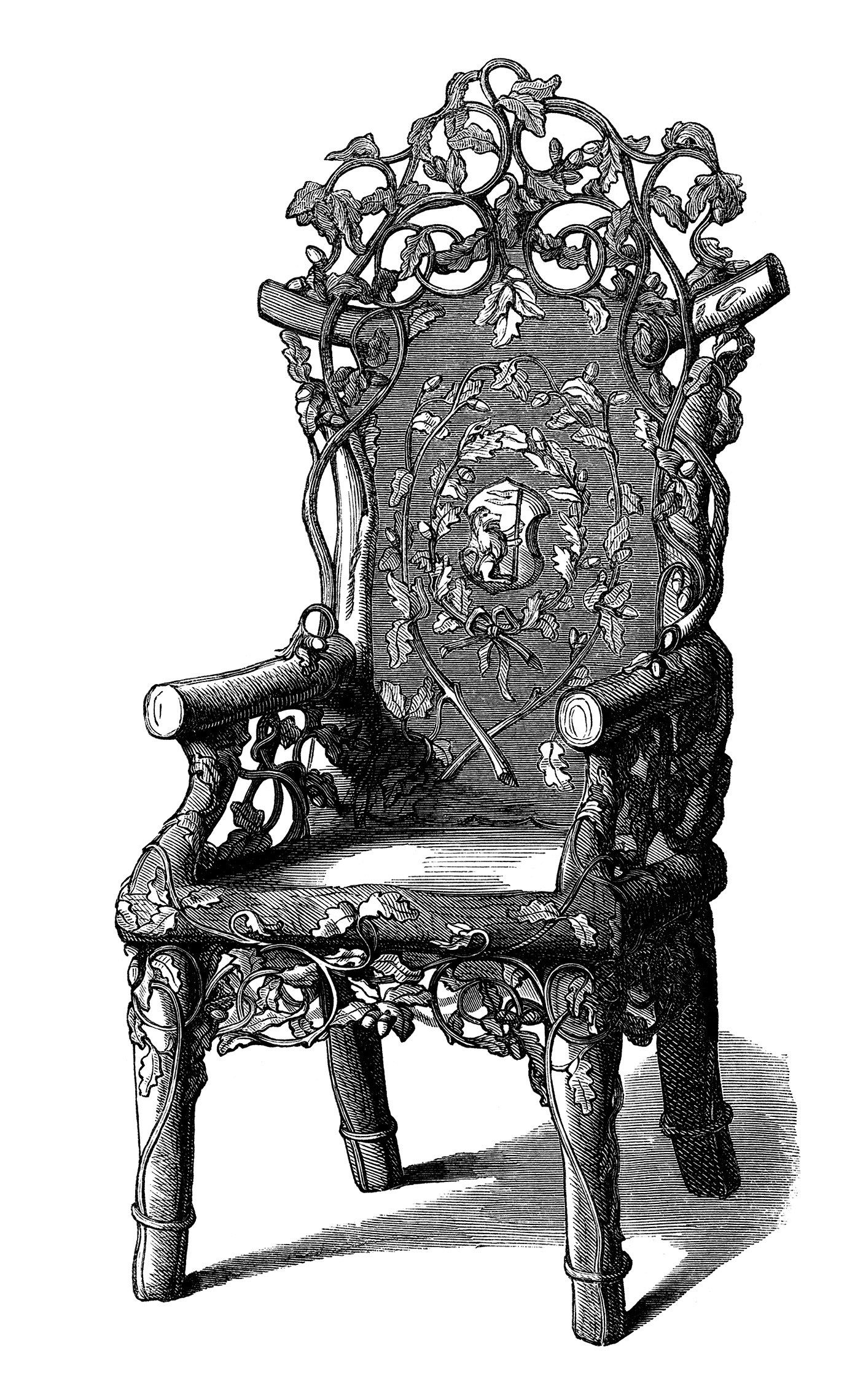 Rustic Chair Clip Art Chair Engraving Black And White Clipart Old Fashioned Furniture Victorian Chair Rustic Chair Art Images Antiques
