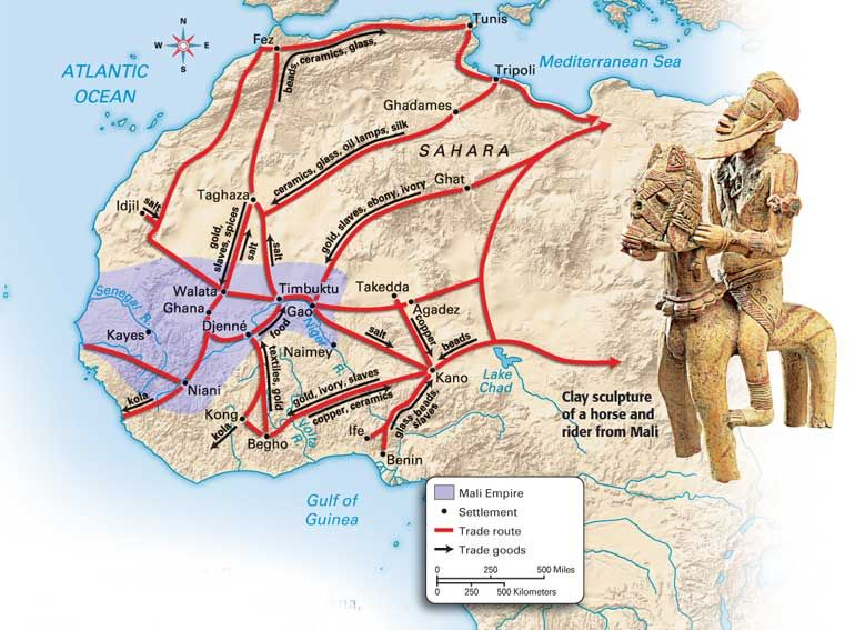 Mali empire - trade routes | Maps & Graphs | African empires ... on map of ancient ghana kingdom, map of ancient ghana trade routes, map of ancient kush empire, map of ancient inca empire, map of ancient assyrian empire, map of ancient kongo empire, fall of ghana empire, map of ancient aztec empire, map of songhay empire, map of axum empire, architecture of ancient ghana empire, map of mali empire, cartoon map of ghana empire, ancient west africa songhai empire, map of ancient oyo empire, map of egypt empire, map of mande empire, people of ghana empire, map of ancient gupta empire,