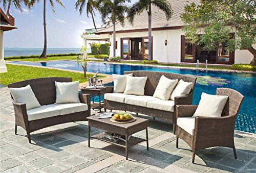 Panama Jack PJO-7001-ATQ-5PLS 5 Piece Key Biscayne Lounge ... on Outdoor Living Shops Near Me id=80950