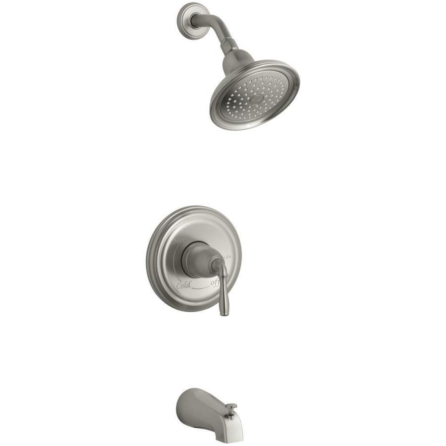 KOHLER Devonshire Vibrant Brushed Nickel Handle Bathtub And Shower - Kohler devonshire bathroom faucet brushed nickel