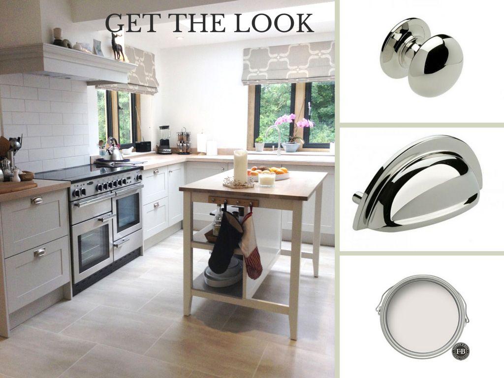 Modern Country style shaker kitchen in Farrow & Ball Cornforth White ...