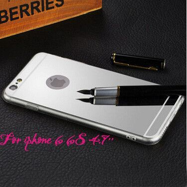 Hot! Mirror Coque Phone cases Luxury Brand Aluminum Metal Clear Silicon Cover For iPhone 5 5s 6 6S 6 Plus Accessories Slim