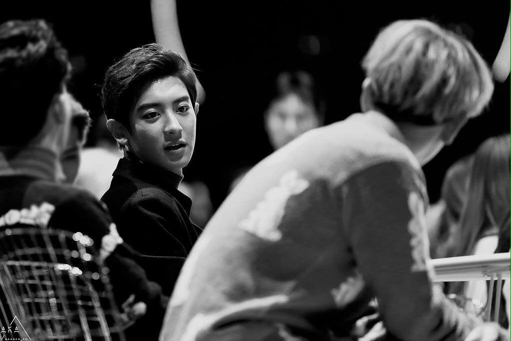 ChanBaek staring at each other