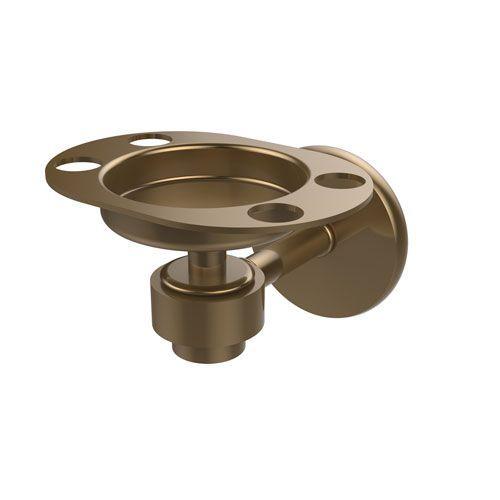 Satellite Orbit One Brushed Bronze Tumbler/Toothbrush Holder - (In Brushed Bronze)