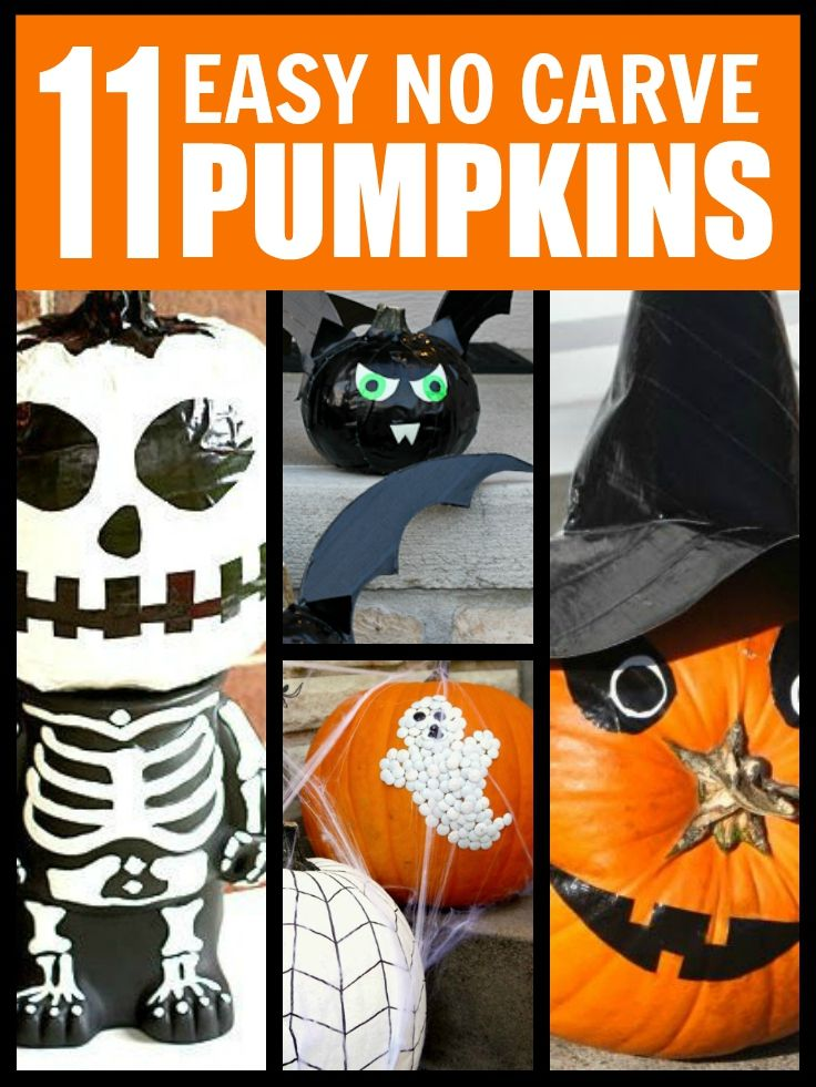 Nice Halloween Pumpkin Designs Without Carving Part - 3: Easy No Carve Pumpkins