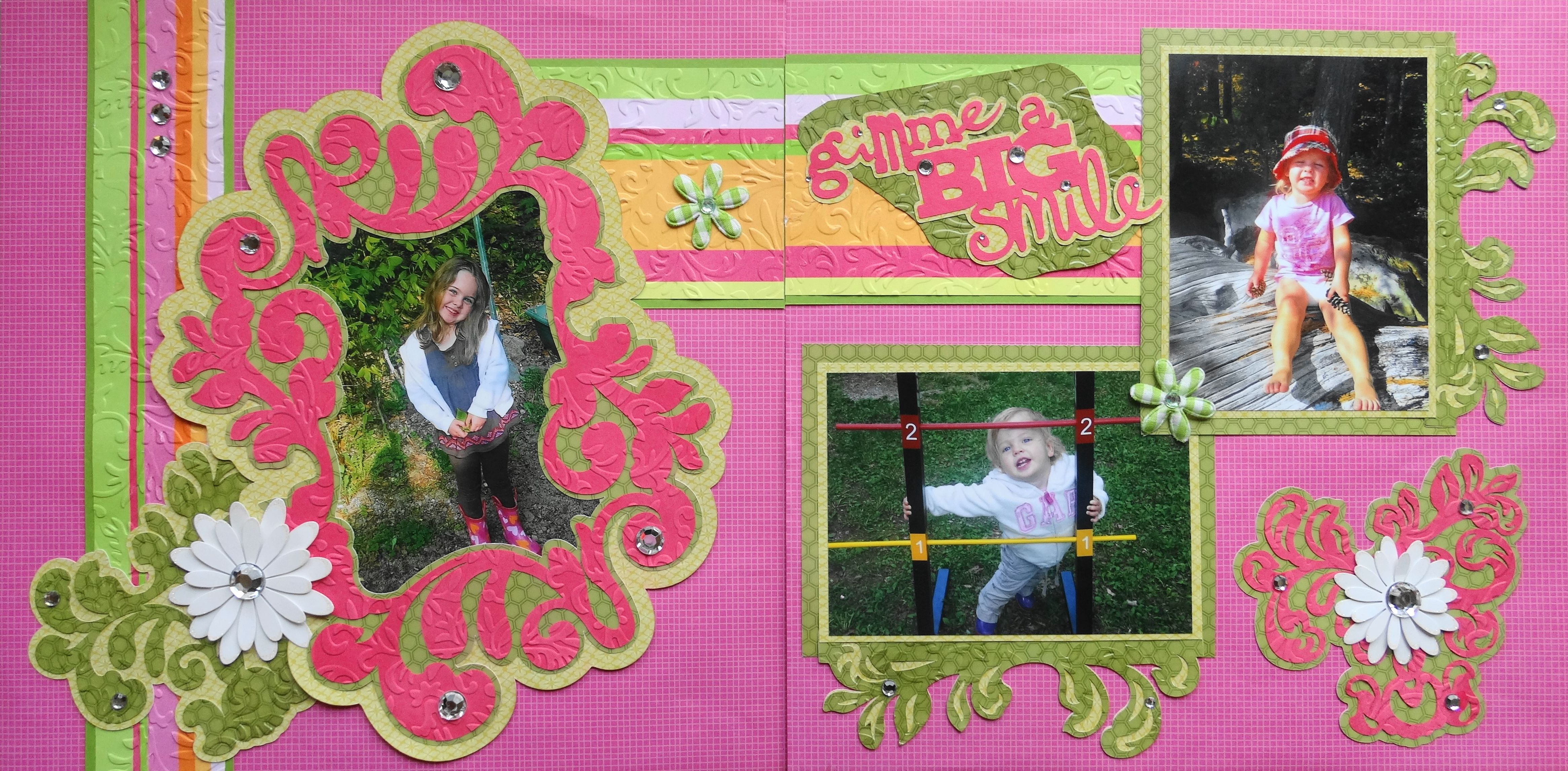 Family scrapbook ideas on pinterest - Scrapbook Page Summer Days At The Park 2 Page Child Layout With Flowers From Girl Scrapbook Ideaschildren Scrapbookfamily
