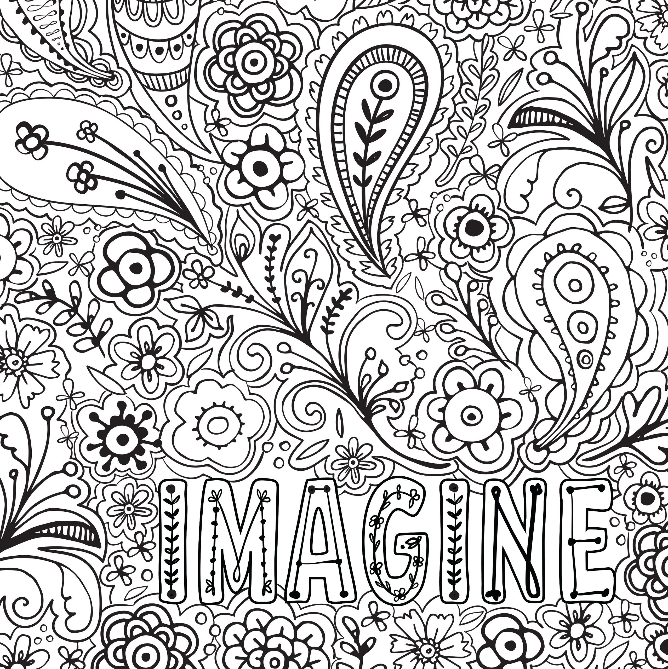 Free Stress Relief Coloring Pages Cinebrique