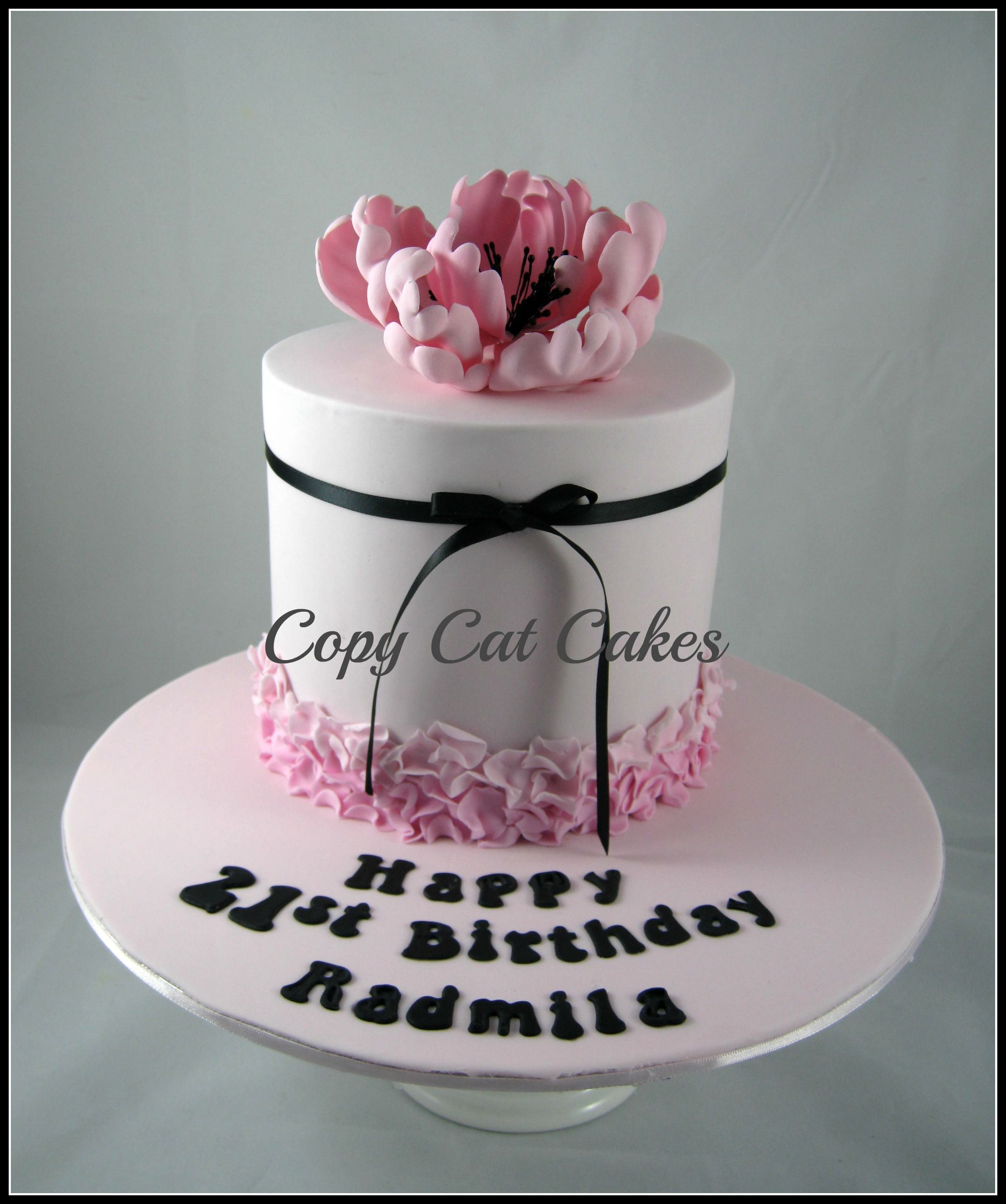 Birthday cakes for her - Pretty 21st birthday cake ...