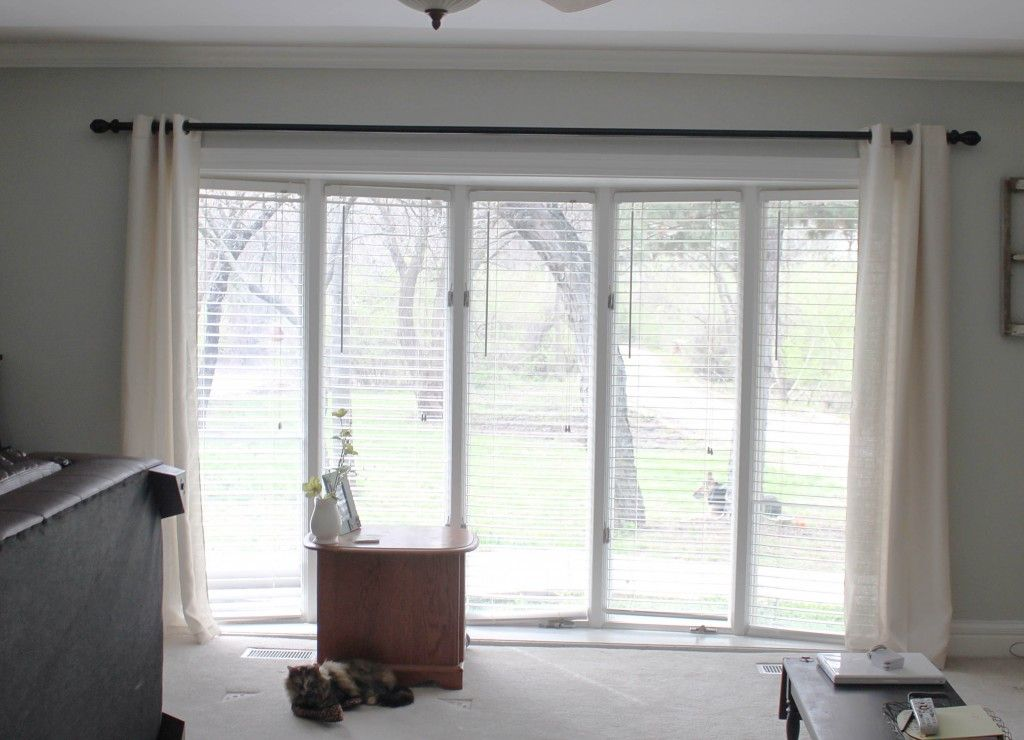 Diy Extra Long Curtain Rod Fireside Dreamers Decor In