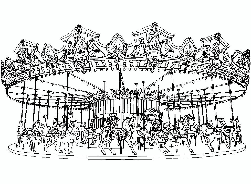 Carousel Coloring Page Horse Coloring Pages Coloring Books Coloring Pages