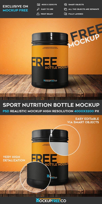 Download Sport Nutrition Bottle Free Psd High Resolution Mockup Sports Nutrition Nutrition Mockup