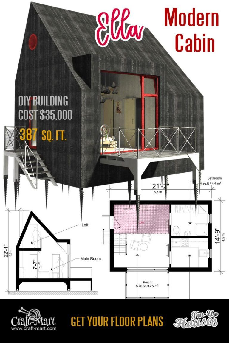 Small Unique House Plans A Frames Small Cabins Sheds Craft Mart Small House Floor Plans Tiny House Floor Plans Modern Cabin