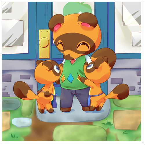 Tom Nook And The Twins Animal Crossing Tom Nook Animal Crossing