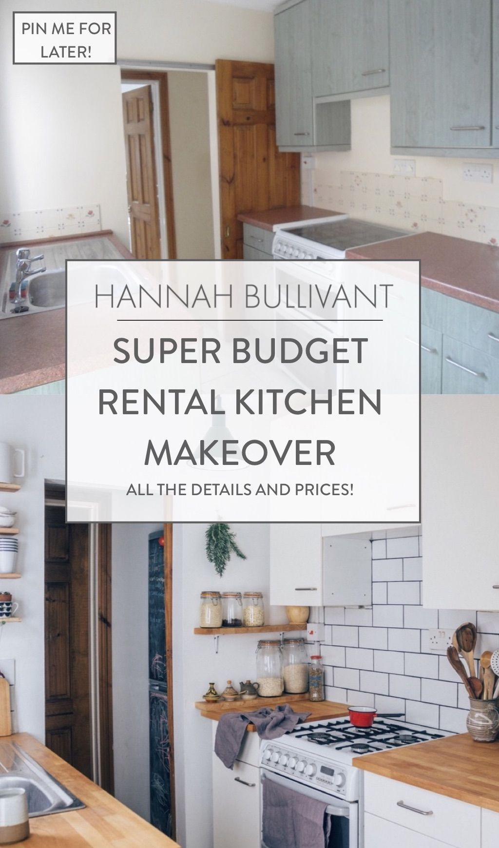 Super Budget Rental Kitchen Makeover — Hannah Bullivant
