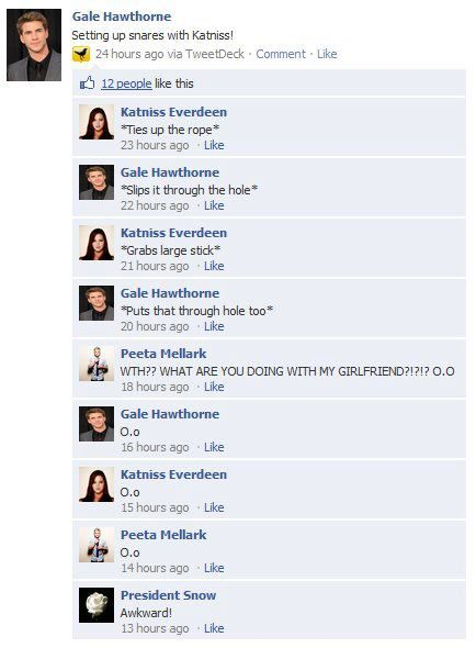 If they had facebook in district 12 lol