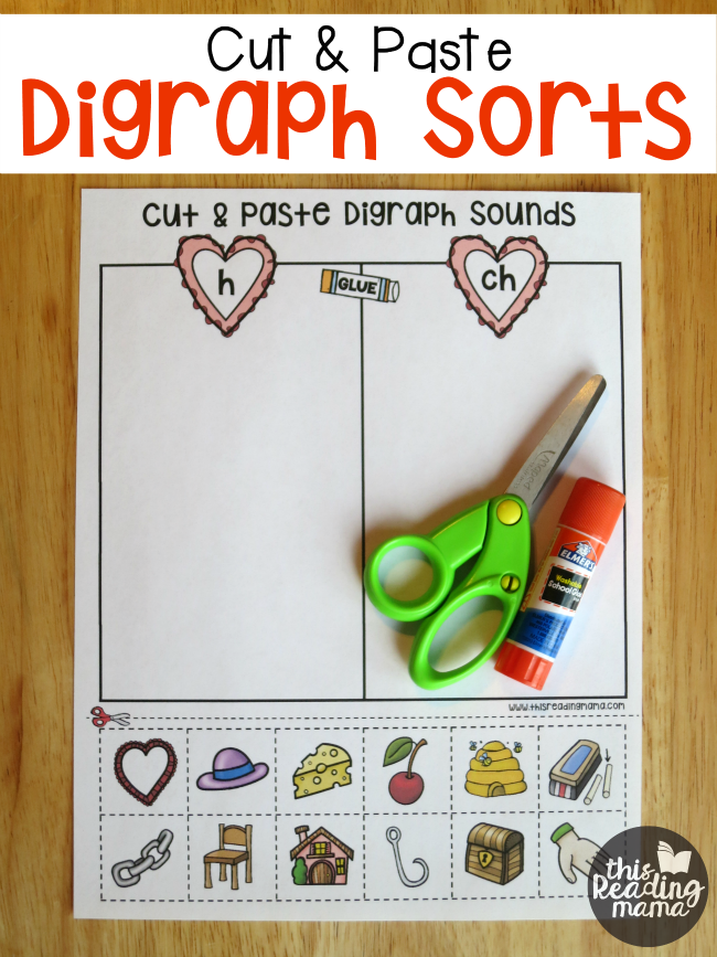 cut and paste digraph sorts best of this reading mama teaching phonics blends digraphs. Black Bedroom Furniture Sets. Home Design Ideas