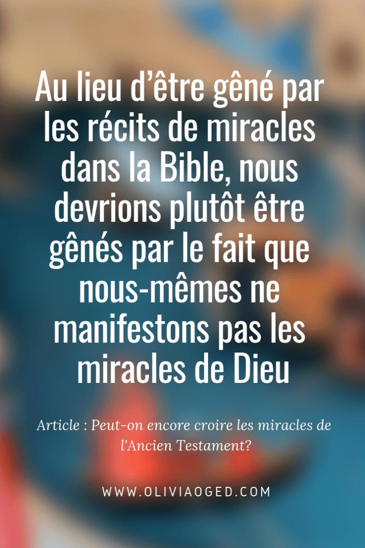 Ne Pas Croire En Dieu : croire, Peut-on, Encore, Croire, Miracles, L'Ancien, Testament?, Testament,, Ancien, Prédication