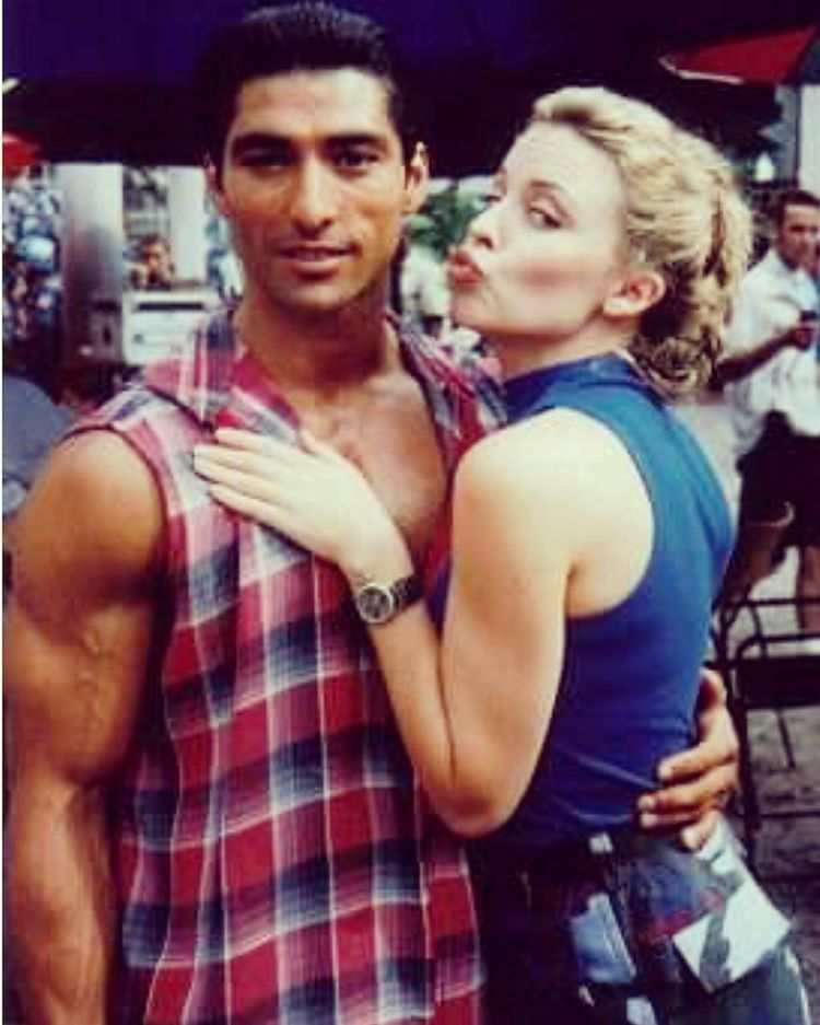 With Kylie Minogue On The Set Of Street Fighter Movie In Bangkok Thailand Street Fighter Movie Native American Actors Michael Greyeyes