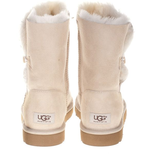 Ugg Bailey Button Sand Buttoned Shearling Boots ($330) ❤ liked on Polyvore
