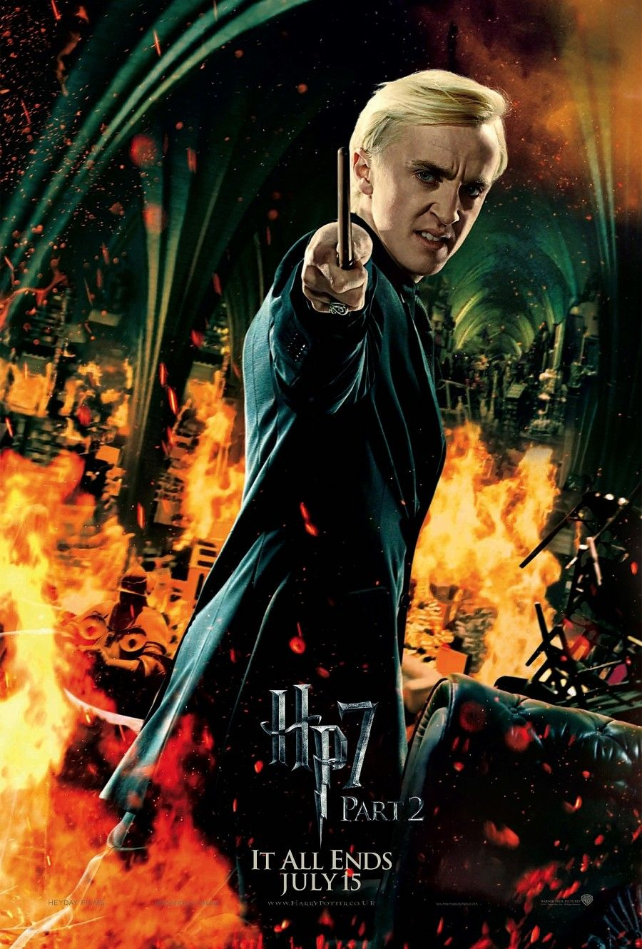 Draco malfoy tom felton in harry potter and the deathly hallows part 2