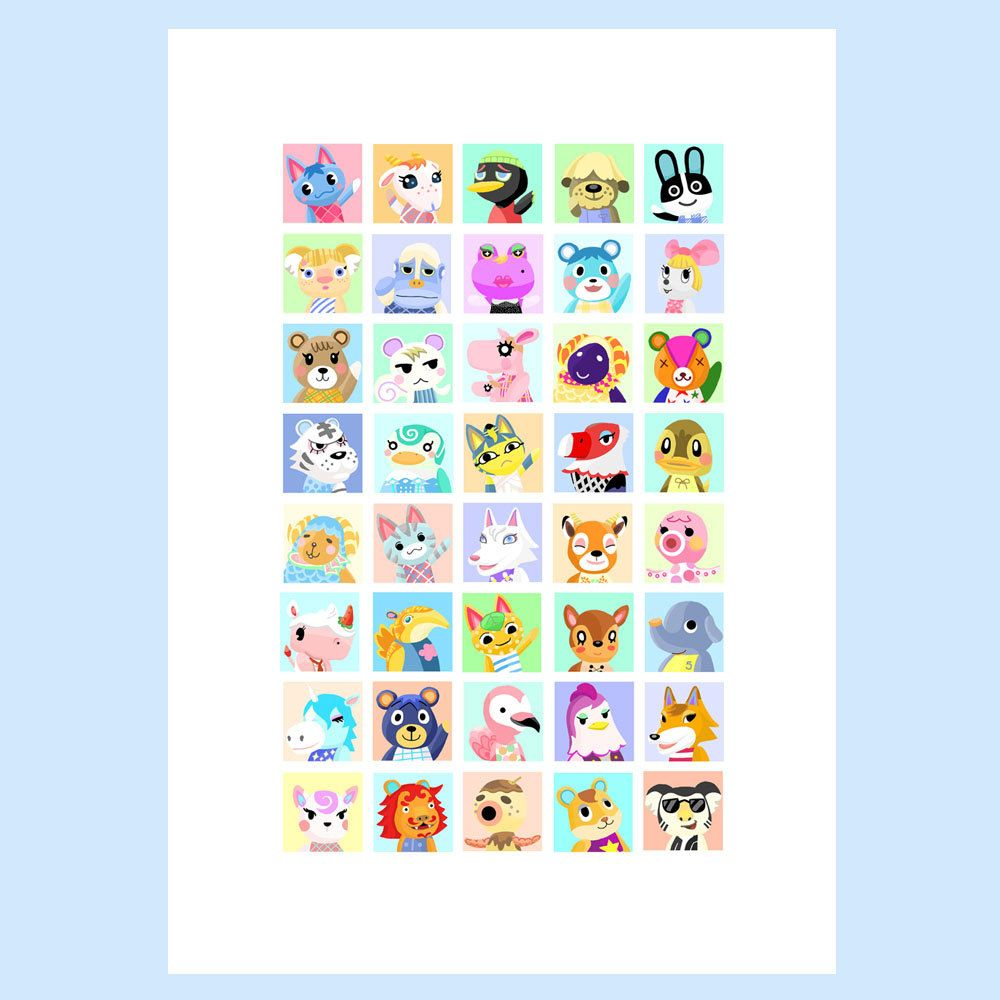 Animal Crossing Villager Character Print Custom Print Choose