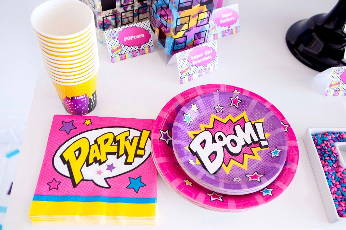girl superhero party supplies | Porsche 5th party | Pinterest ...