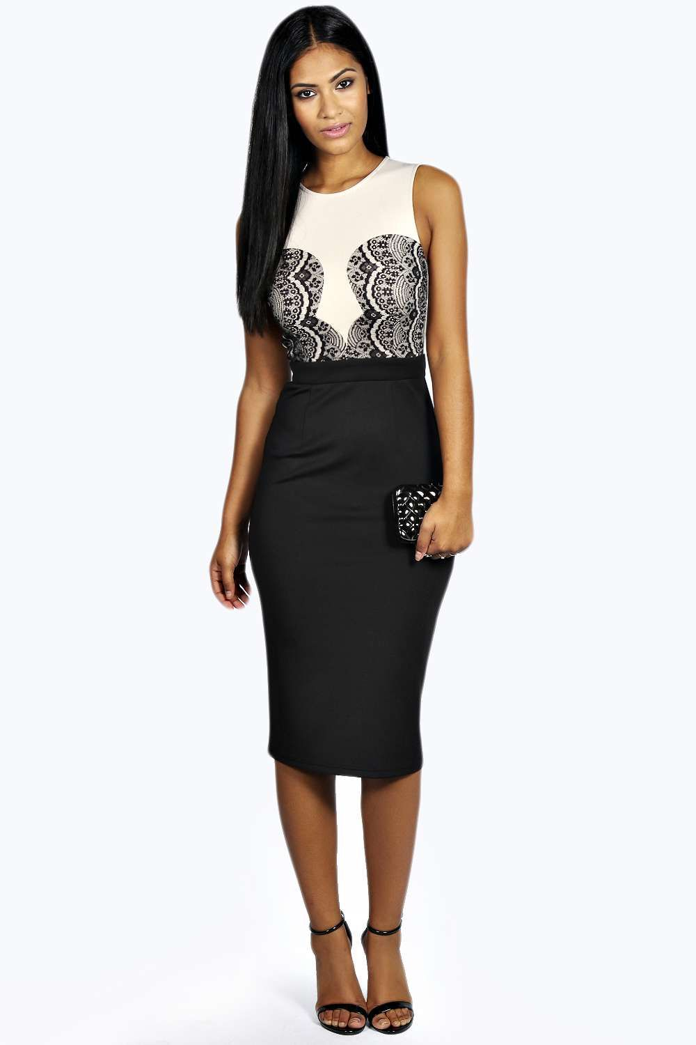 Boutique Anna Lace Top Bodycon Midi Dress | Tops, Lace tops and Lace