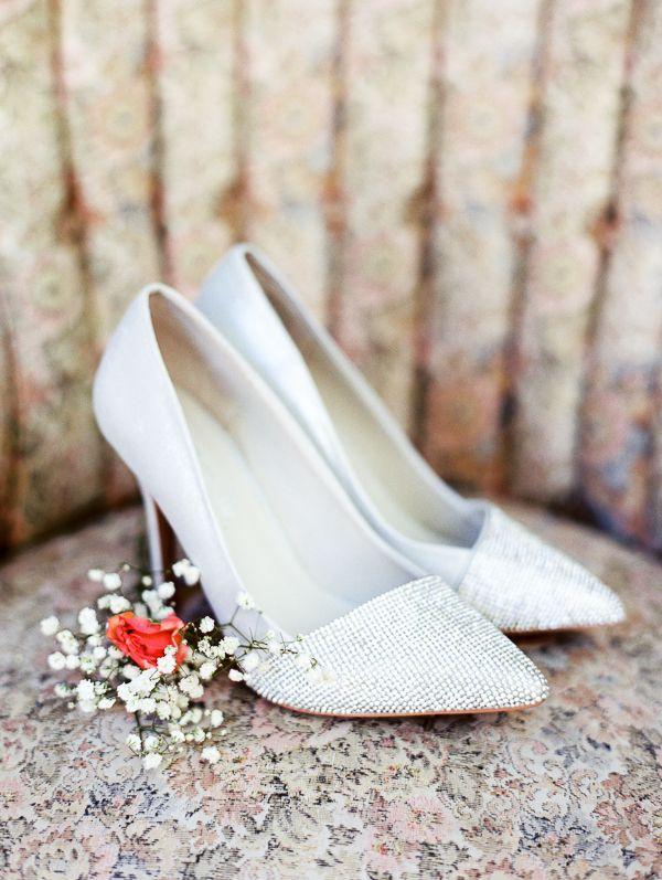 Mint Shabby Chic Wedding Sparkly Wedding Shoes Pink Wedding