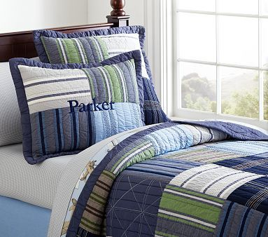 Parker Quilted Bedding #pbkids