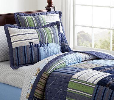 Parker Quilted Bedding #pbkids