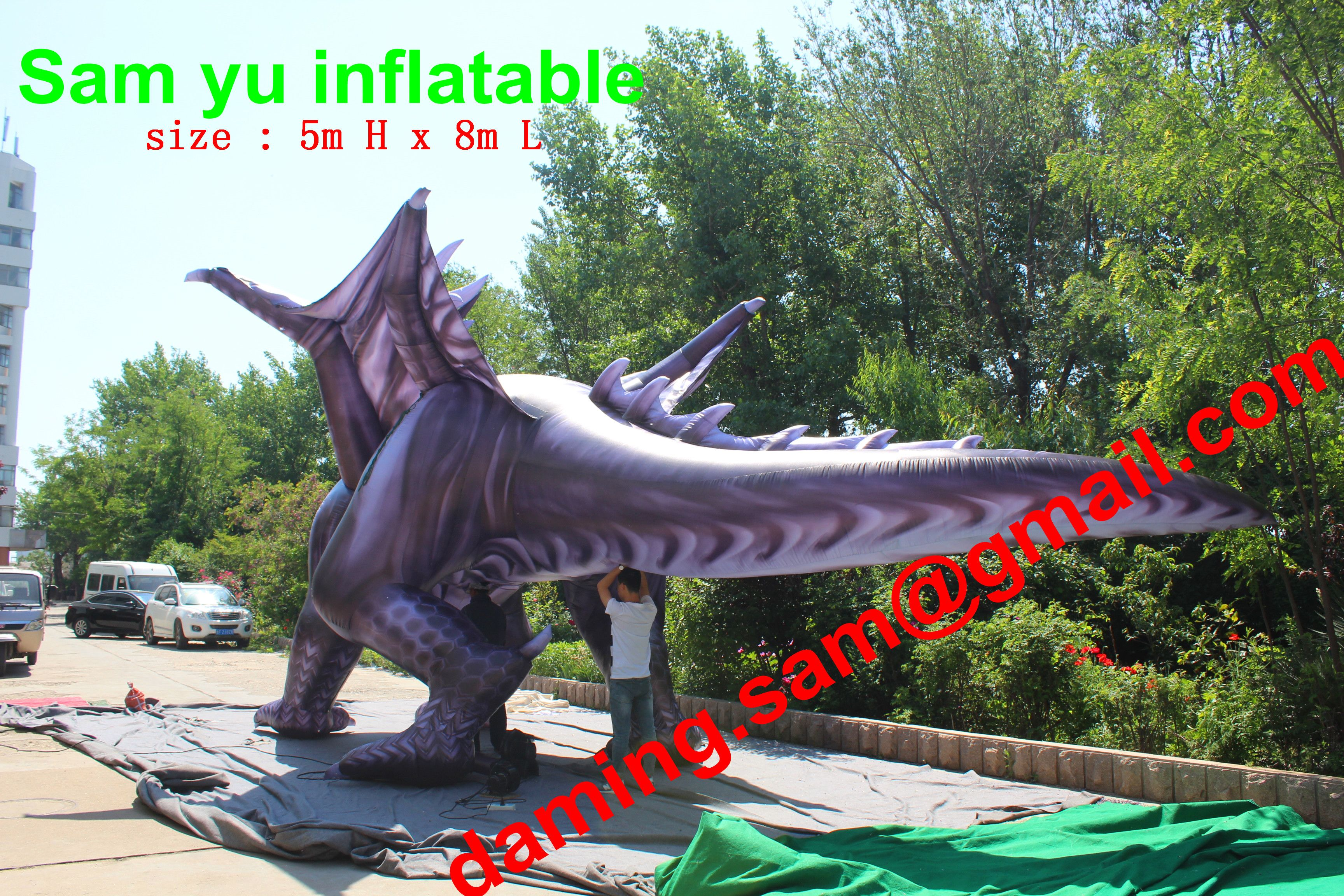 8m length giant large inflatable chinese dargon inflatable